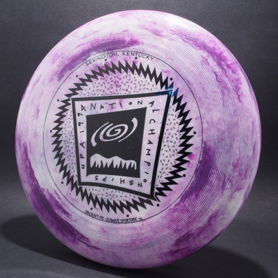 UltraStar 1994 UPA Nationals Purple White Swirl w/ Black Matt