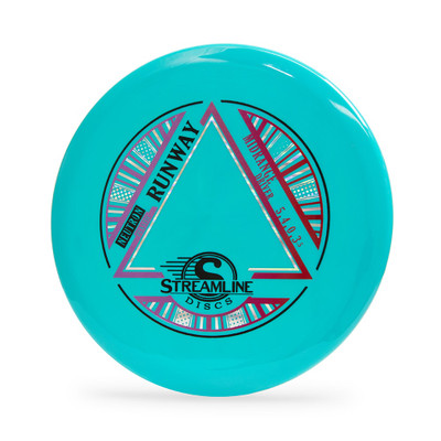 Streamline Neutron Runway. Top view of a teal disc.