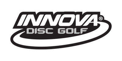 Innova Logo Sticker. Shows one sticker in white on black background.