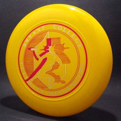 Sky-Styler Bryant College Ultimate Messangers Yellow w/ Metallic Gold and Red Matte Top View Black Background