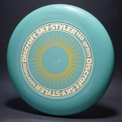 Sky-Styler Sun Glow Blue w/ Yellow Matte Sun and Metallic Gold Ring - No Tooled Ring - Top View