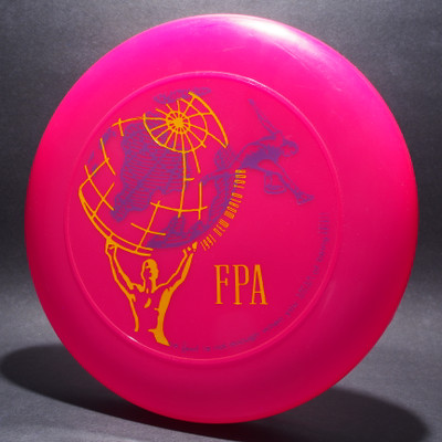 Sky-Styler FPA 1991 New World Tour Disc Bright Pink w/ Purple and Yellow Matte Top View