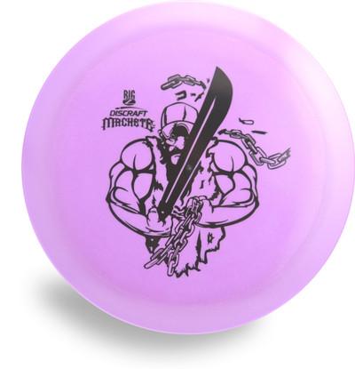 Discraft Big Z Machete. Top view of purple disc.