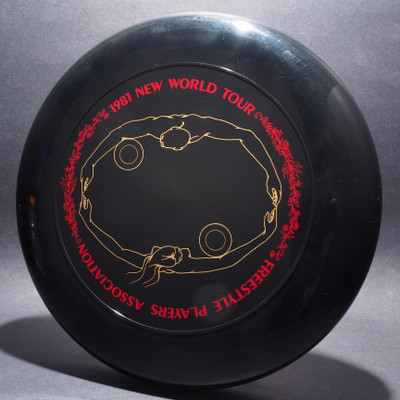 Sky-Styler 1981 FPA New World Tour Black w/ Matte Red Text and Metallic Gold Chest Roll - Thin Ring - Top View