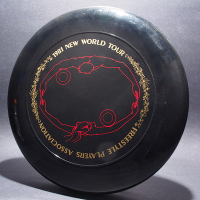 Sky-Styler 1981 FPA New World Tour Black w/ Metallic Gold Text and Matte Red Chest Roll - Thin Ring - Top View