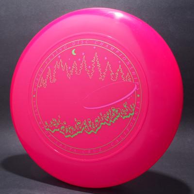 Sky-Styler 1991 WFDF Santa Cruz Hot Pink w/ Metallic Green and Metallic Purple - T90 - Top View