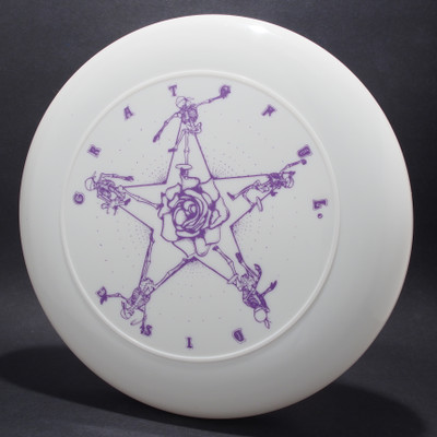 Sky-Styler Grateful Disc Skeletons and Rose White w/ Purple Matte-T80 - Top View
