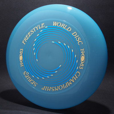 Sky-Styler 1983 Freestyle World Disc Champioship Series Blue w/ Metallic Blue and Gold - T80 - Top View