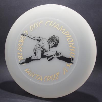 Sky-Styler 1982 World Disc Championships V Santa Cruz Clear w/ Metallic Gold and Black Matte - T80 - Top View