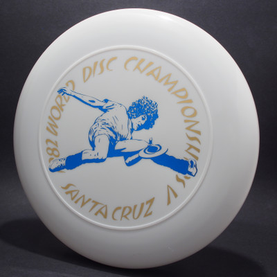Sky-Styler 1982 World Disc Championships V Santa Cruz White w/ Metallic Gold and Metallic Blue - T80 - Top View