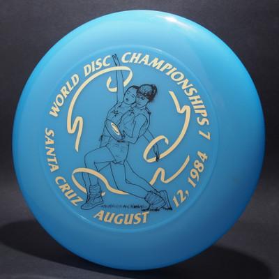 Sky-Styler 1984 World Disc Championships 7 Santa Cruz Blue w/ Metallic Gold and Black Matte - T80 - Top View
