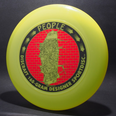 Sky-Styler Discraft People Bright Yellow w/ Metallic Red Brick and Black Matte People - T90 - Top View