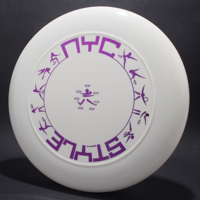 Sky-Styler NYC Style White w/ Metallic Purple - T90 - Top View