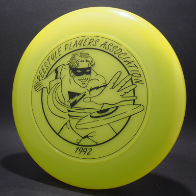 Sky-Styler 1992 FPA Freestyle Players Association Tour Disc Bright Green w/ Black Matte - T80 - Top View