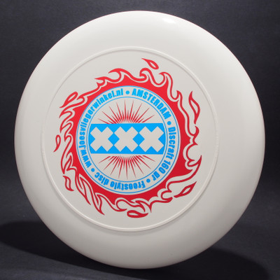 Sky-Styler XXX Amsterdam White w/ Metallic Blue and Red Top View