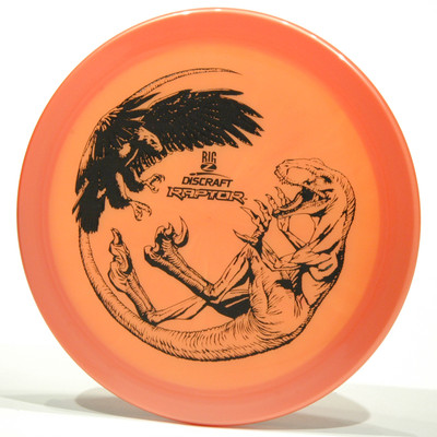 Discraft Raptor (Big Z) Orange Top View