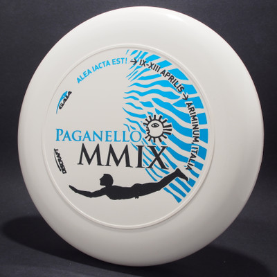 Sky-Styler Paganello MMIX White w/ Metallic Blue and Matte Black Top View
