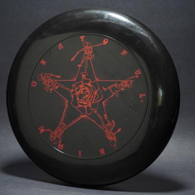 SKY-STYLER GRATEFUL DISC SKELETONS  Black w/  red matte -T80