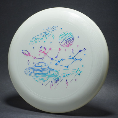 Wham-O GLOW UMAX INTERSTELLAR FRISBEE - Glows in the Dark! Flying Disc