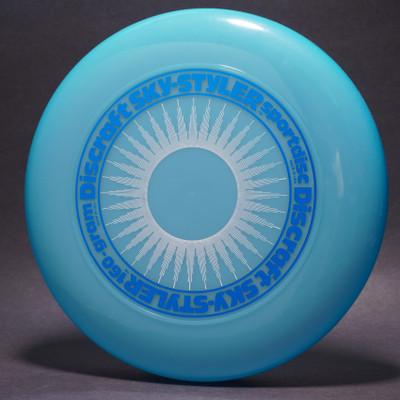 Sky-Styler Sun Blue w/ White Matte Sun and Metallic Blue Ring - NT - Top View