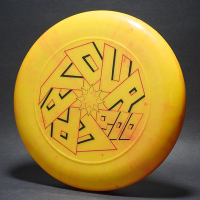 Discraft SKY-STYLER '86 FPA Tour Disc Marble Yellow w/  Black & Red Matte-T80