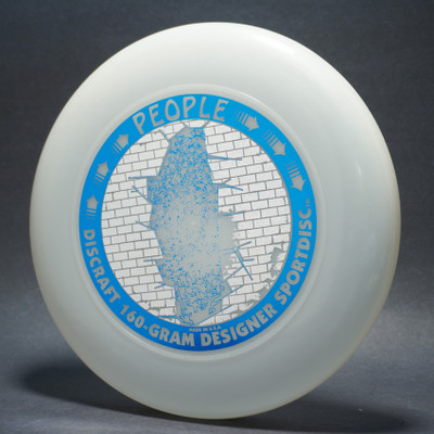 Sky-Styler Discraft People UV Plastic (Clear) w/ Metallic Silver Sparkle Prism Brick and Metallic Blue People - T90 - Top View