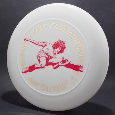 Sky-Styler 1982 World Disc Championships V Santa Cruz White w/ Metallic Gold and Red Matte - T80 - Top View
