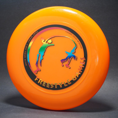 Sky-Styler Freestyle Games Bright Orange w/ Black Matte and Metallic Rainbow-T2000s - Top View