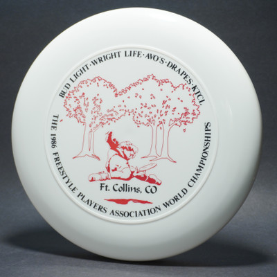 Sky-Styler 1986 FPA World Championships White w/ Black and Red Matte - T80 - Top View