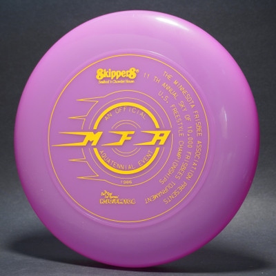 Sky-Styler 1986 MFA Minnesota Frisbee Association Purple w/ Yellow Matte - T80 - Top View