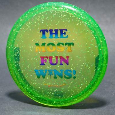 Innova MINI Metal Flake The Wright Life Most Fun Wins *Pick One* Green Top View