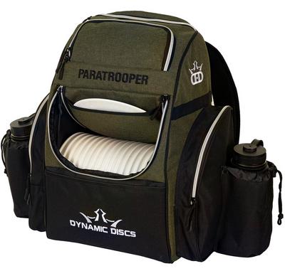 Paratrooper Backpack Disc Golf Bag - Olive and Black