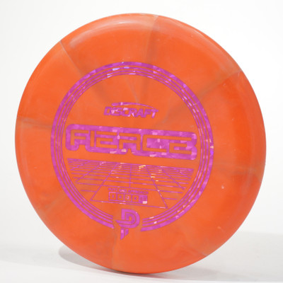 Discraft Fierce (Special Blend) Paige Pierce Stock Model Orange Swirl Top View
