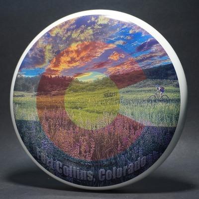 Discraft UltraStar (SuperColor) Fort Collins, Colorado Studio Black Background Top View