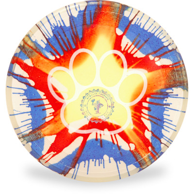 Hero Disc Super Sonic 215 Ice Dye Top Dye Canine Flying Disc - Asst Dyes Top View