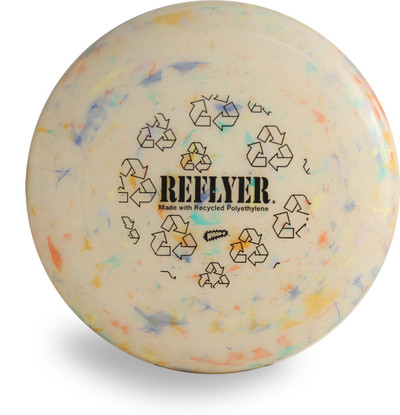 WHAM-O RECYCLED REFLYER FRISBEE - COLLEGIATE 100 MOLD DISC