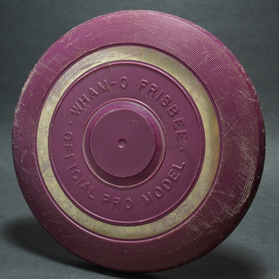 Classic Wham-O Pro Model Raised Letter Mold 10 - Purple