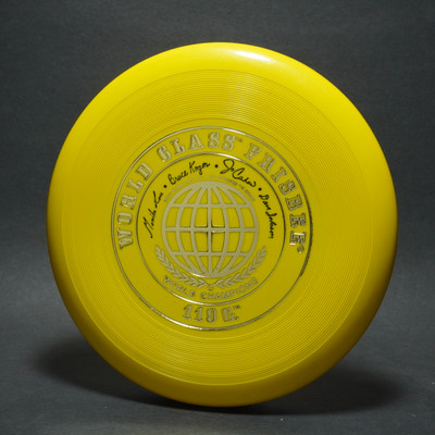 Classic Wham-O 41 Mold World Class - 4 signature - Yellow