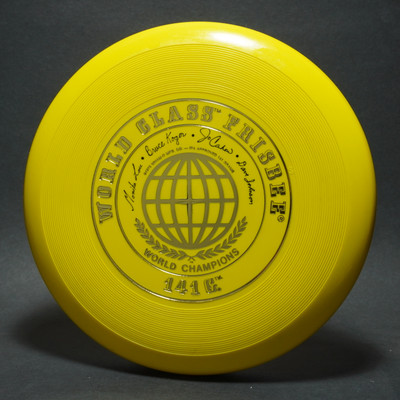 Classic Wham-O 50 Mold World Class - 4 signature - Yellow