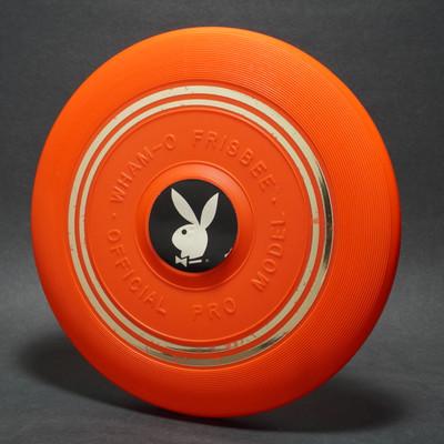 Classic Wham-O Pro Model Mold 15 Raised Letter Orange w/ Playboy Label