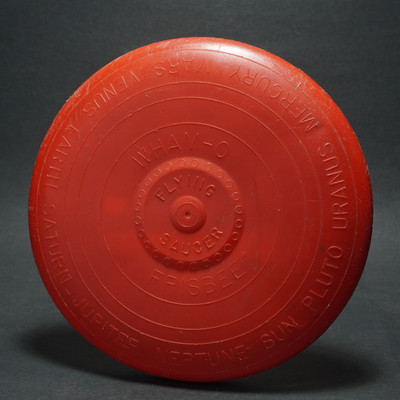 Wham-O Flying Saucer Flying Disc - Red Mold 3