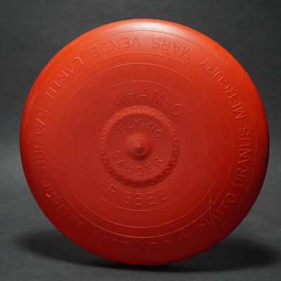 Wham-O Flying Saucer Flying Disc - Mold 3  Red