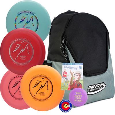 Wright Life Innova 4-Disc Starter Set w/ Discover Bag, Rules, Sticker & Mini