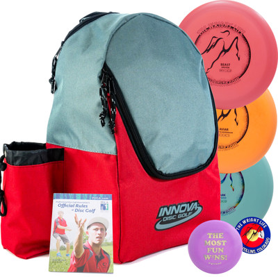 Wright Life Innova 3-Disc Starter Set - w/ Discover Bag, Rules, Sticker & Mini