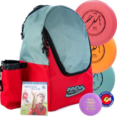 Wright Life Innova 3-Disc Starter Set - w/ Discover Bag, Rules, Sticker & Mini