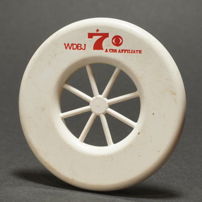Wagon Wheel Mini ring  WDBJ Promo- Unknown Manufacturer -White