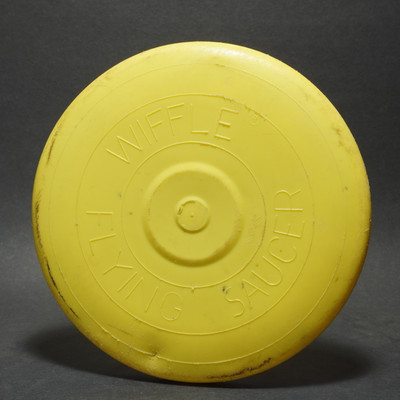 Wiffle Flying Saucer - Raised Letter (Yellow) Used