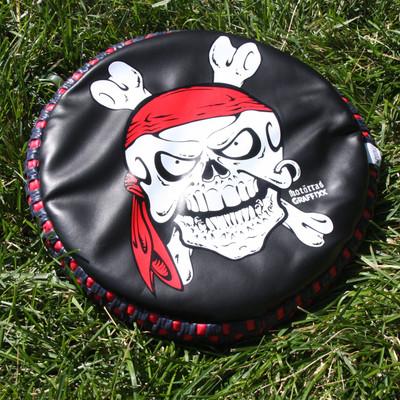 "Gripper Flyer Small 9"" Skull & Crossbones Pirate Soft Flying Disc"