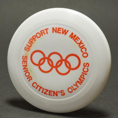 Original Wham-O Mini New Mexico Senior Olympics - White w/ Orange