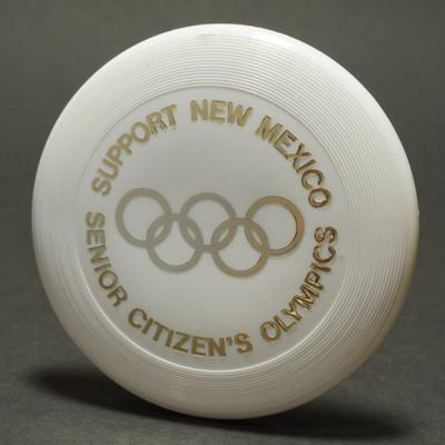 Original Wham-O Mini New Mexico Senior Olympics - White w/ Gold